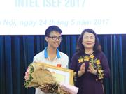 越南在Intel ISEF 2017获奖成绩排名上位居第三