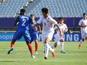 2017韩国U20世界杯:法国队以4比0击败越南队