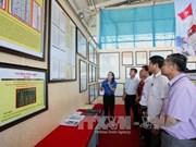 """""""黄沙、长沙归属越南:历史证据和法律依据""""资料图片展在北件省举行"""
