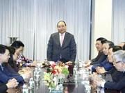 越南政府总理阮春福探访越南常驻联合国代表团