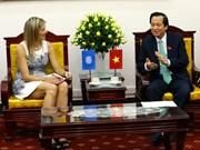 越南劳动荣军社会部部长陶玉容会见荷兰王后马克西玛