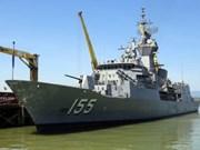 """澳大利亚海军""""巴拉腊特""""号护卫舰访问越南岘港市"""