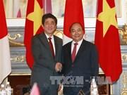 阮春福总理与日本首相安倍晋三进行会谈