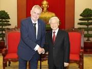 捷克重视巩固和发展对越南的传统友好合作关系