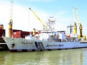 """日本海上自卫队""""越后""""号巡逻船对岘港进行友好访问"""