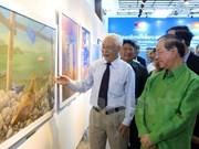 越老建交55周年:越老美术展在万象正式开幕