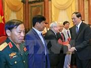 国家主席陈大光会见援柬越南老志愿军代表团