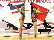 2017年东南亚青年艺术体操锦标赛:越南选手阮河梅夺金