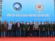 联合国维和参谋军官培训班在越南开班