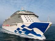 承载近3500名游客的爱之船战神号游轮抵达越南新港盖梅国际码头