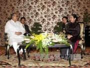 胡志明市领导会见孟加拉国共产党主席