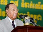 柬埔寨国会主席韩桑林开始对越南进行正式友好访问