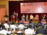 越柬两国团结一致 加强友好合作 共谋发展
