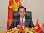越南驻柬大使石余在柬埔寨国家电视台发表电视讲话