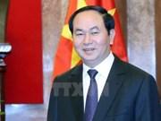 越南国家主席陈大光接受俄罗斯和白俄罗斯记者的采访