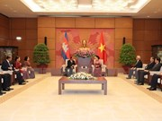 柬埔寨国会主席韩桑林圆满结束访越之旅