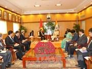 政府副总理兼外长范平明礼节性拜会印度副总统兼联邦院议长