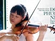 越南年轻人才杜芳儿小提琴独奏音乐会即将亮相河内