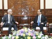 越南国家主席陈大光会见国际刑警组织秘书长