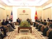 越南副防长阮志咏会见美国和韩国客人
