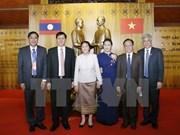 老挝国会主席巴妮•雅陶都结束对越访问并出席越老建交55周年系列纪念活动之旅
