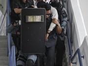 马来西亚警方进行防恐演习确保东运会安全