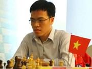 中国儋州国象超霸战:越南棋手黎光廉战平中国名将