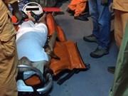 中国籍遇险船员被及时送上岸获治疗