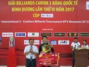 第六次国际三库开伦台球赛在越南平阳省落下帷幕