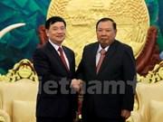 越老建交55周年:老挝领导高度评价越老友好协会的作用