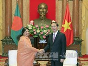 越南国家主席会见孟加拉国国民议会议长