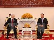 越共中央总书记阮富仲会见柬埔寨参议院主席赛宗
