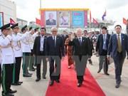越共中央总书记阮富仲访问西哈努克省