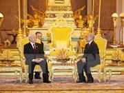 越共中央总书记阮富仲致电感谢柬埔寨国王诺罗敦•西哈莫尼