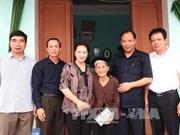 越南国会主席阮氏金银看望慰问海阳省优抚家庭