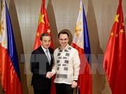 中国外长王毅访问菲律宾