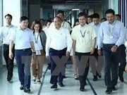 越南政府总理阮春福走访太原越南三星电子公司
