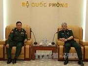 国防部副部长阮志咏上将会见缅甸军事安全总局副总局长