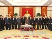 越共中央总书记会见老挝人民革命党代表团