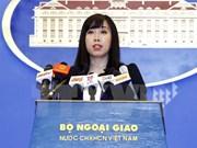 越南外交部对逮捕部分对象一事做出反应