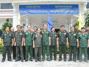 越南西宁省军事指挥部加强与柬埔寨军事小区的配合
