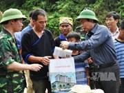 越南国会副主席冯国显亲切慰问木江界灾区人民