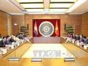 越南国会副主席丛氏放同柬埔寨参议院第一副主席奈北纳举行会谈