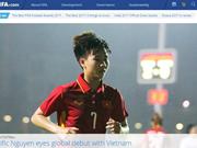 越南一女足运动员登上国际足联网页