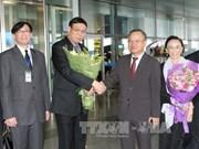 泰国国家立法议会议长蓬佩开始对越南进行正式访问