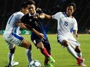 第29届东南亚运动会男足比赛:菲律宾队以2比0击败柬埔寨队