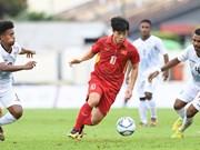 第29届东南亚运动会男足比赛:越南队以4比0击败东帝汶队