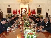 阮富仲总书记与印尼总统佐科·维多多举行会谈