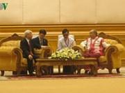 阮富仲总书记会见缅甸联邦议会议长曼温凯丹