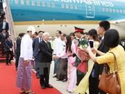 越共中央总书记阮富仲开始对缅甸进行国事访问